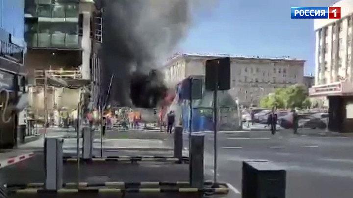 Пожар на Кутузовском проспекте: огонь вспыхнул на стройплощадке у бизнес-центра
