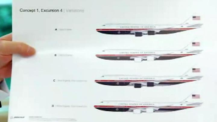 Трамп представил новый дизайн президентского самолета