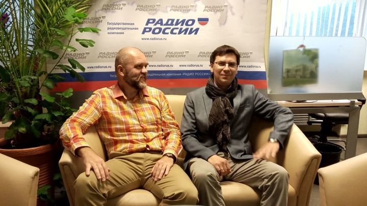 Дмитрий Конаныхин и Андрей Жуковский перед эфиром
