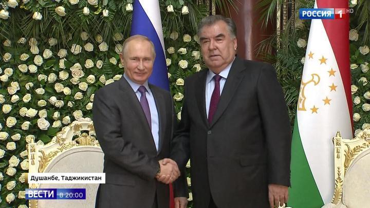 Путин прибыл в Душанбе