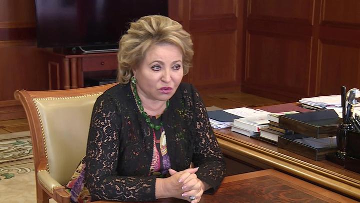 Валентина Матвиенко встретилась с врио губернатора Астраханской области Игорем Бабушкиным