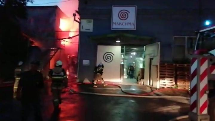 В Ростове-на-Дону тушат крупный пожар