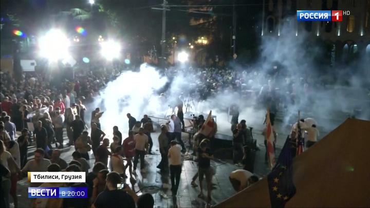 Бой у здания парламента в Тбилиси: кто подготовил масштабную провокацию