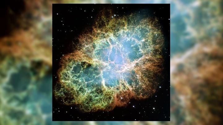 """Изображение Крабовидной туманности, полученное телескопом """"Хаббл""""."""