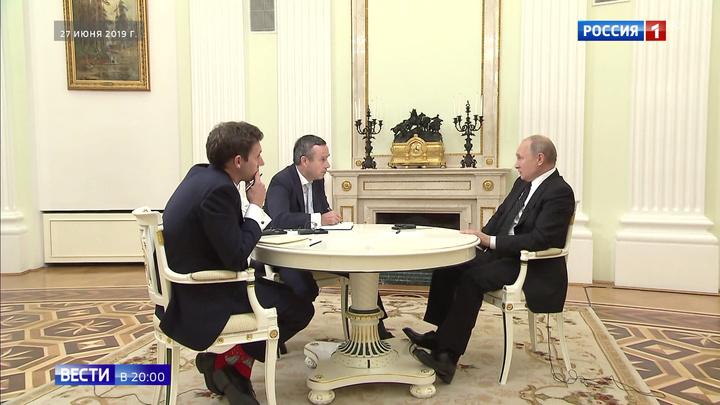 """""""Не против кого-то, а за себя самих"""": Путин рассказал о политике России"""