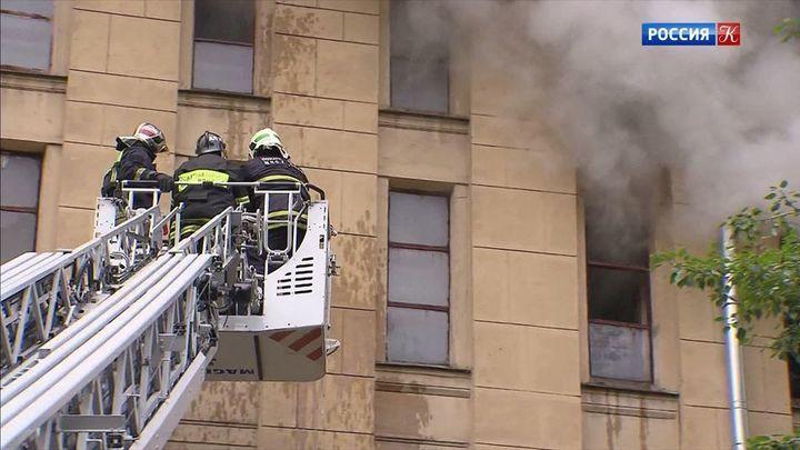 В Российском государственном архиве литературы и искусства произошел пожар