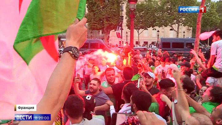 Победу своей команды фанаты Алжира отметили погромами во Франции