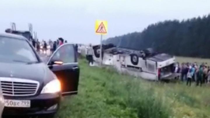 Смертельное ДТП в Башкирии: перевернулся автобус с 39 пассажирами