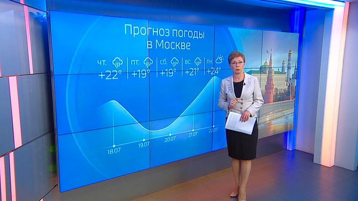 """""""Погода 24"""": из-за двухдневных ливней в Москве затопило улицы"""
