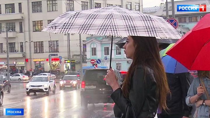 Зонты пригодятся москвичам вплоть до начала следующей недели