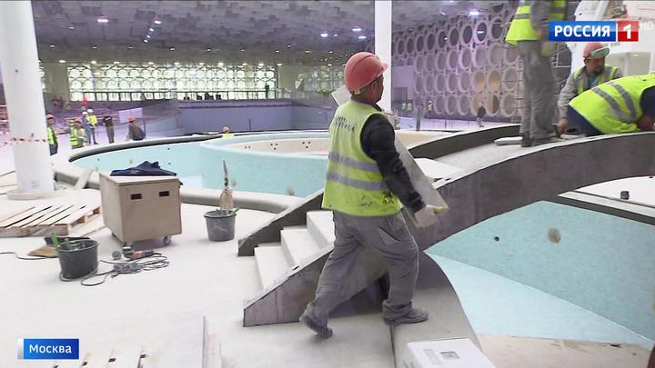 Строительство Дворца водных видов спорта в Лужниках вышло на финишную прямую