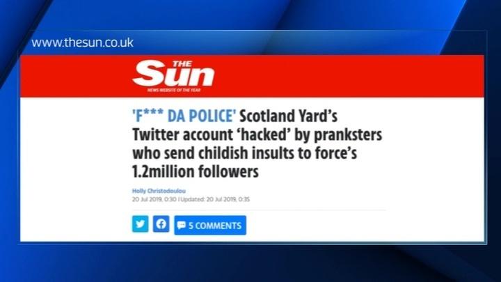 Из-за хакеров Скотланд-Ярд разразился бранью