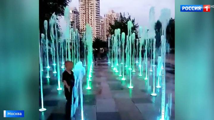В парке 70-летия Победы открыли сухой фонтан