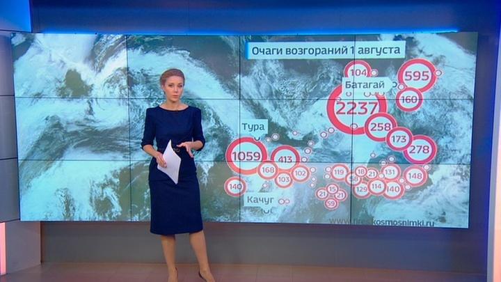 """""""Погода 24"""": совместными усилиями авиации и наземных сил в Сибири потушили 5 тысяч гектаров леса"""