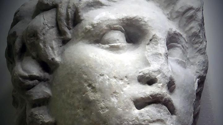 Скульптурный портрет Александра Македонского из Верии. Фото: Angeliki Kottaridi / Facebook
