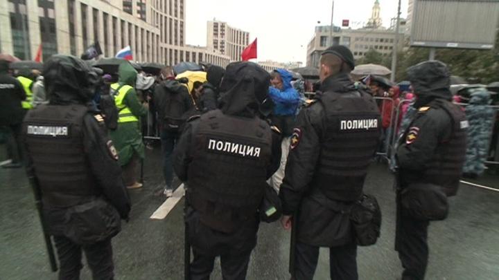 Полиция отчиталась по задержанным в центре Москвы