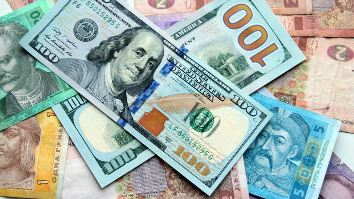 Доллар и гривна