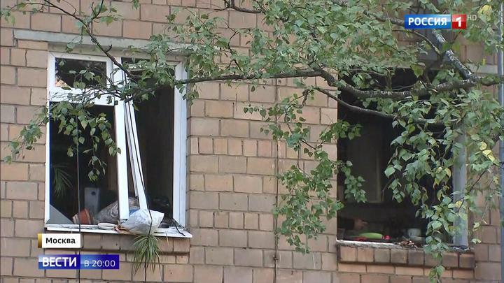Хлопок газа на юге Москвы: вылетели стекла, обрушилась стена