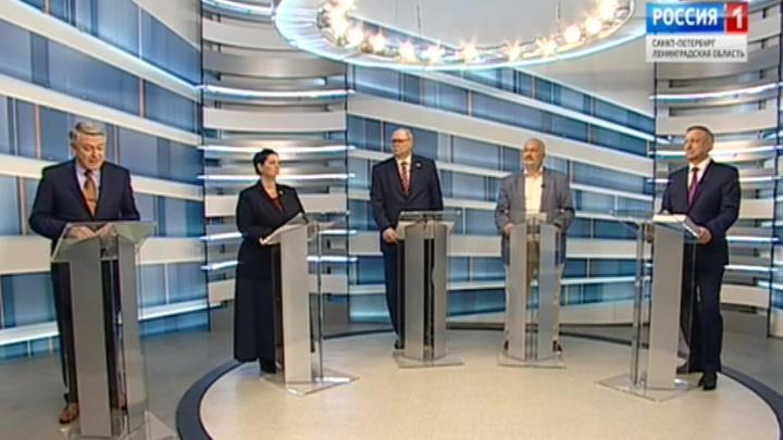 В Санкт-Петербурге прошли дебаты кандидатов в губернаторы