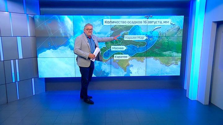 """""""Погода 24"""": в западной части России ожидаются грозы и дожди"""