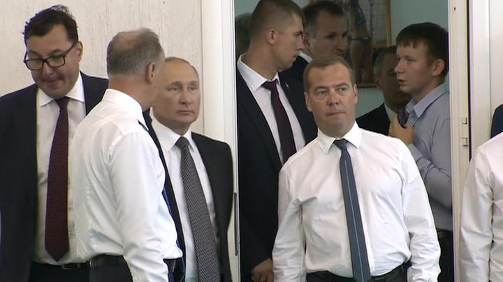 Вести.Ru: Путин, Медведев и Патрушев осмотрели спорткомплекс ...