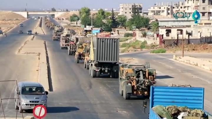 В провинции Идлиб был атакован турецкий военный конвой