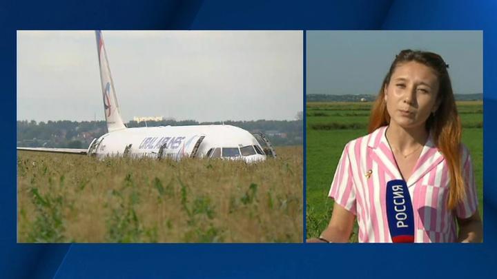 В Подмосковье готовят к эвакуации севший на кукурузное поле самолет