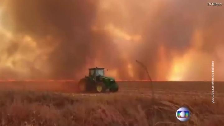 Лесные пожары пожирают бассейн Амазонки