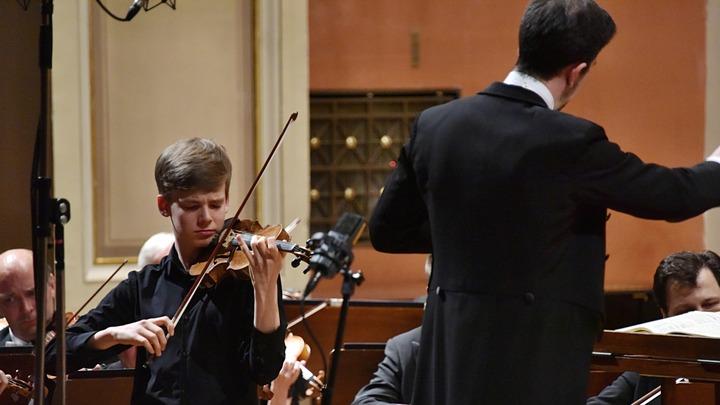 Виктор Дзедзец, скрипка (Польша). Фото Zdenek Chrapel.