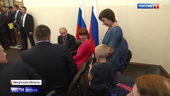 Под особым контролем. Путин лично проверил, как восстанавливают Тулун