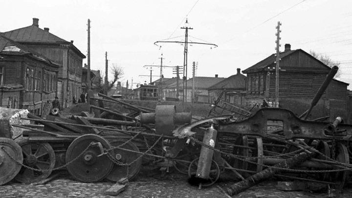 Хроника, 1941 год. Завалы на улицах Тулы. Автор неизвестен.