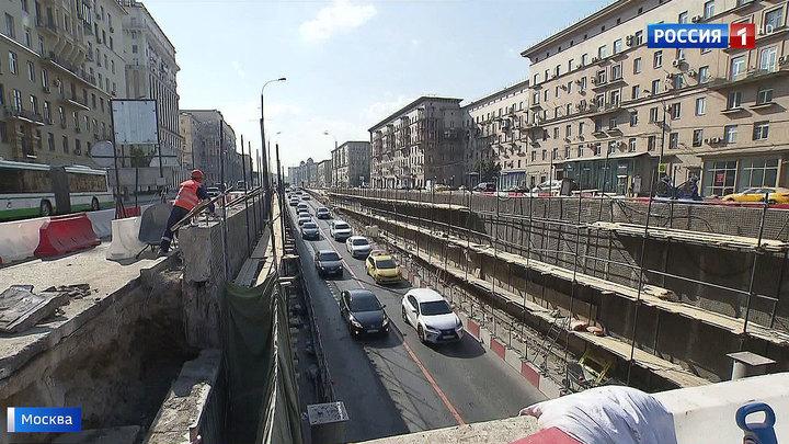 Капитальный ремонт: в Кутузовском тоннеле начали демонтировать несущие балки