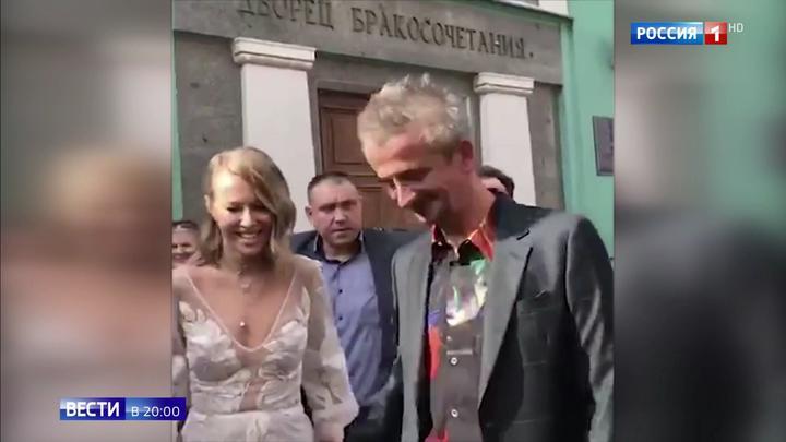 Свадьба Собчак и Богомолова: кто приехал поздравить молодоженов