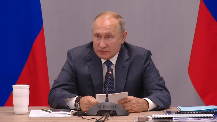 Заседание военно-промышленной комиссии. Выступление Владимира Путина