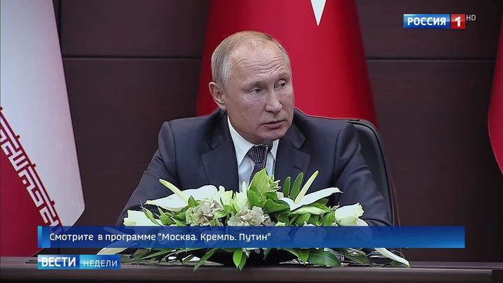Путин напомнил о милости Аллаха