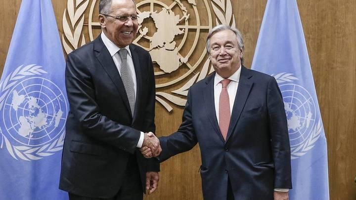 Лавров и генсек ООН провели встречу на полях 76-й сессии Генассамблеи