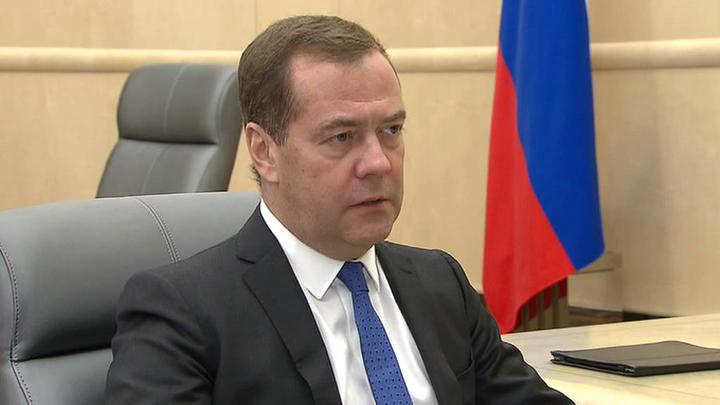 """Премьер-министр Дмитрий Медведев провел встречу с президентом """"Опоры России"""""""