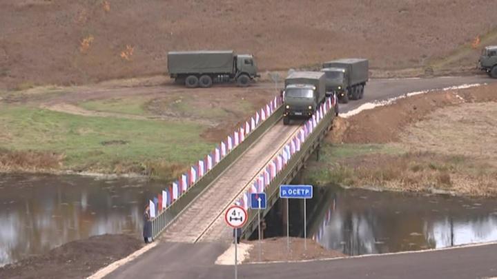 В Тульской области открыт новый мост, построенный армией