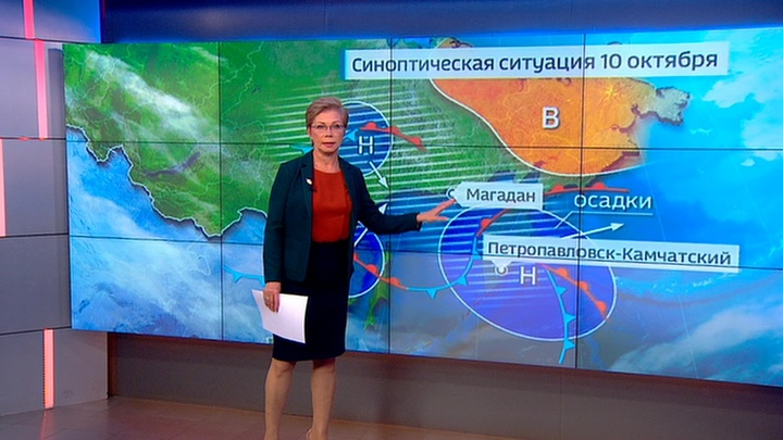 """""""Погода 24"""": на Камчатке устраняют последствия сильного шторма"""