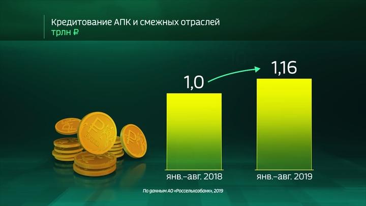 Россия в цифрах. Кредитование экономики Россельхозбанком