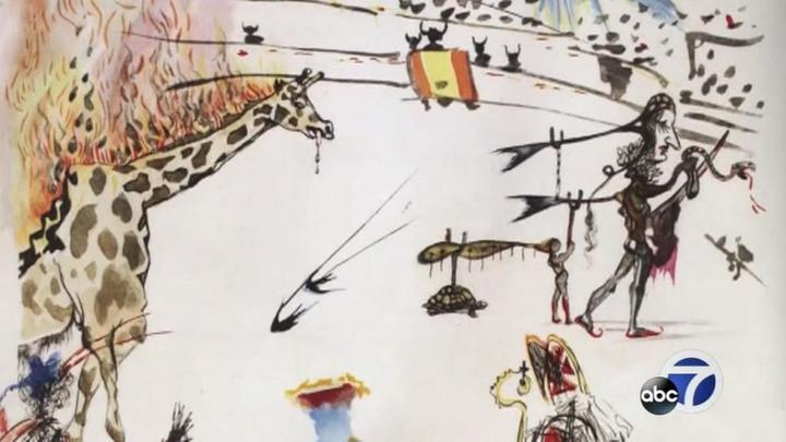 Украсть за 30 секунд: неизвестный вынес из галереи гравюру Сальвадора Дали