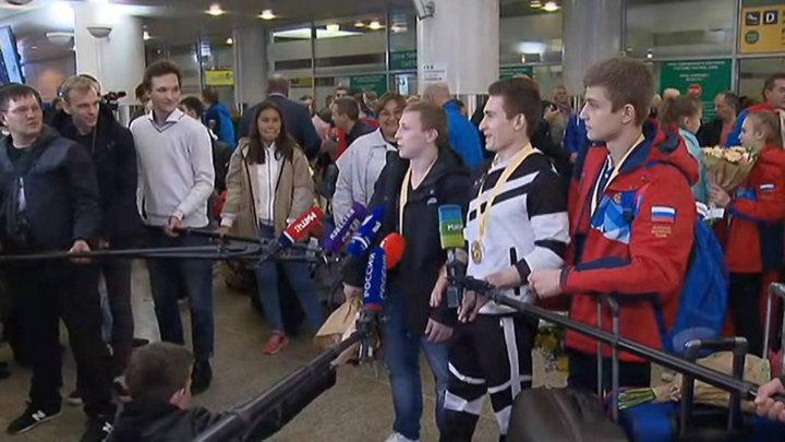 В Москву вернулись российские гимнасты, с триумфом выступившие в Германии