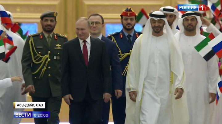 Проекты на земле и в космосе: Путин и принц ОАЭ скрепили договоры подарками