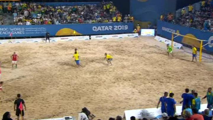 Российские футболисты проиграли бразильцам в финале Всемирных пляжных игр