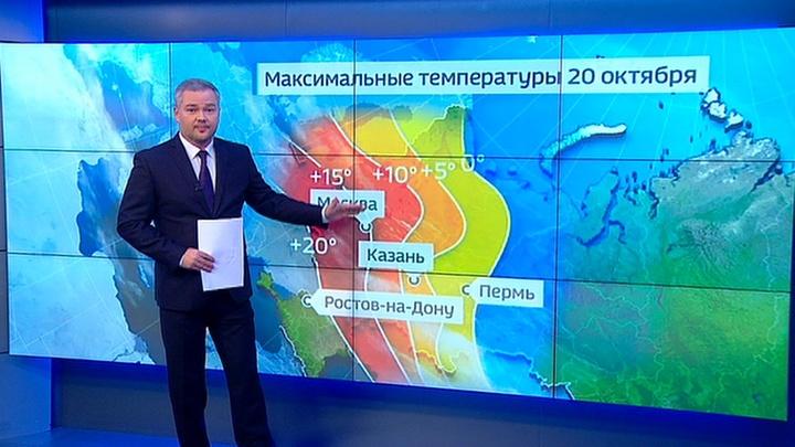 """""""Погода 24"""": аномальное потепление в Москве можно будет назвать прабабушкиным летом"""