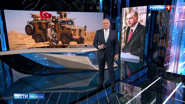 Киселёв: ситуация для Эрдогана — бери шинель, иди домой