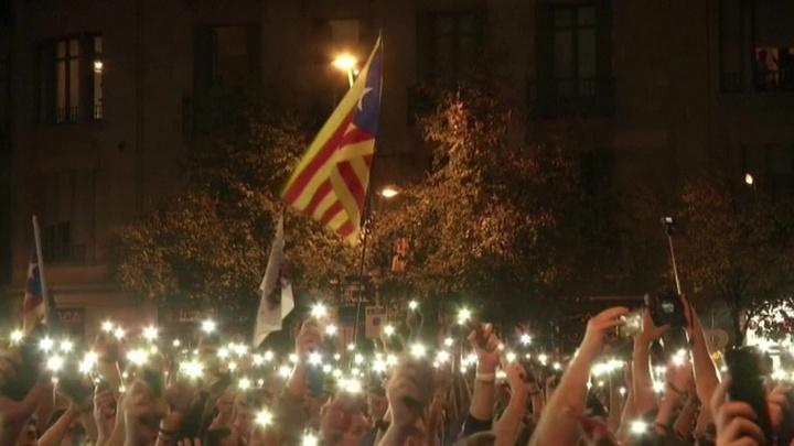 В Каталонии прошел мусорный митинг