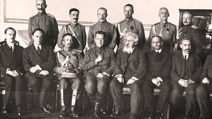 Второе коалиционное Временное правительство. Фото  август 1917года /historyrussia.org/