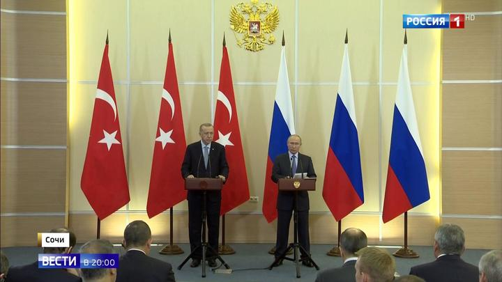 Путин: Россия и Турция нашли решение по ситуации на сирийско-турецкой границе