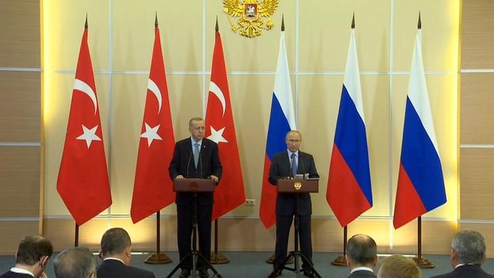 Пресс-конференция по итогам российско-турецких переговоров. Полное видео
